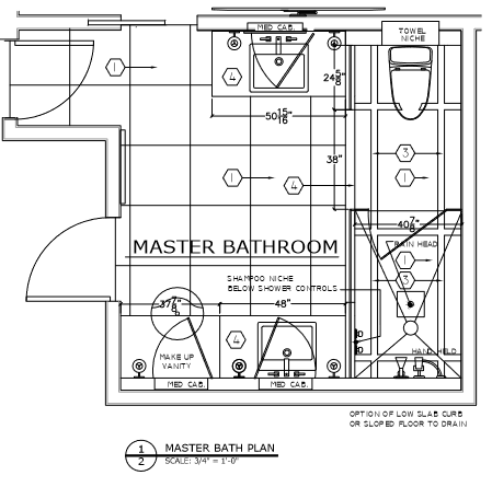 Master Bath Floorplan